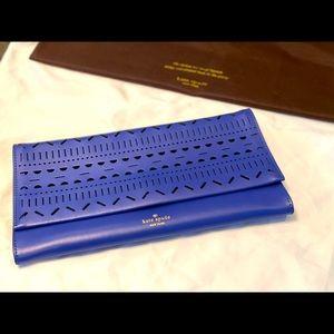 Kate Spade blue clutch